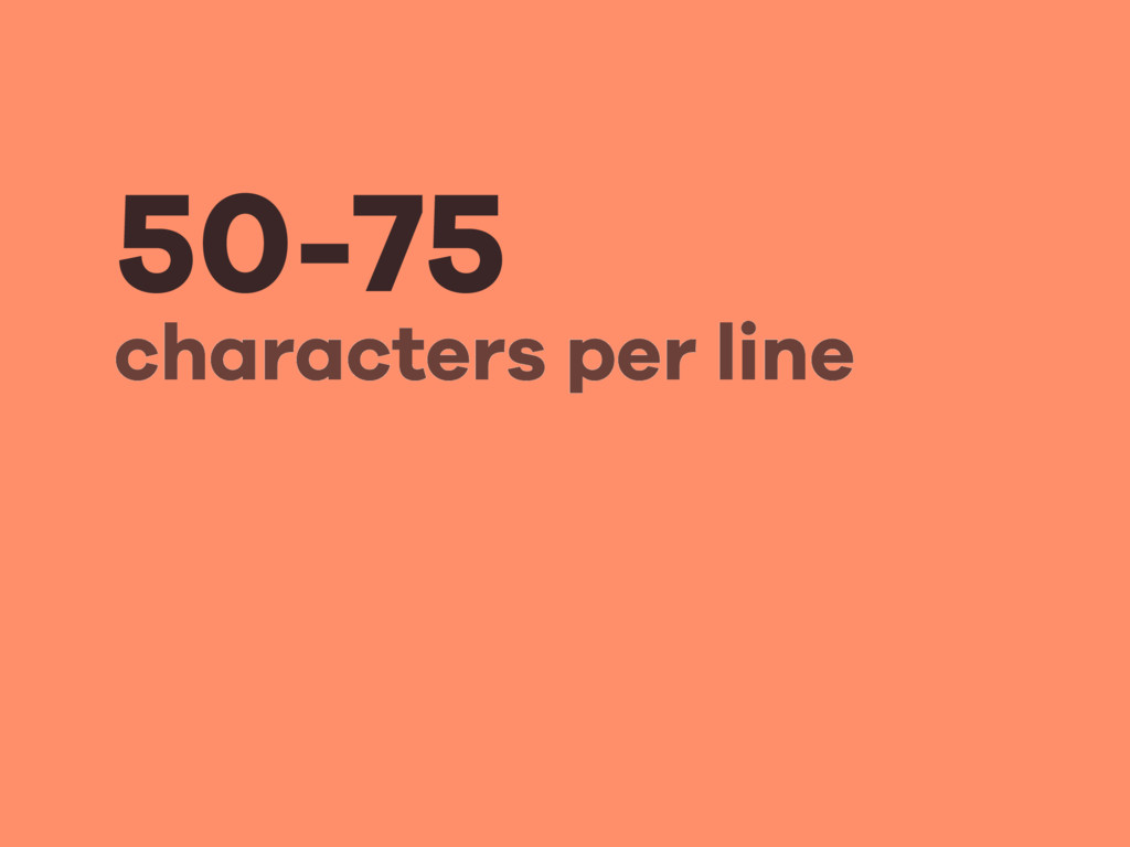 50-75 characters per line