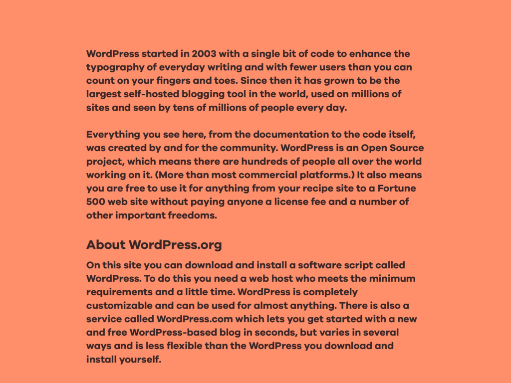 WordPress started in 2003 with a single bit of ...