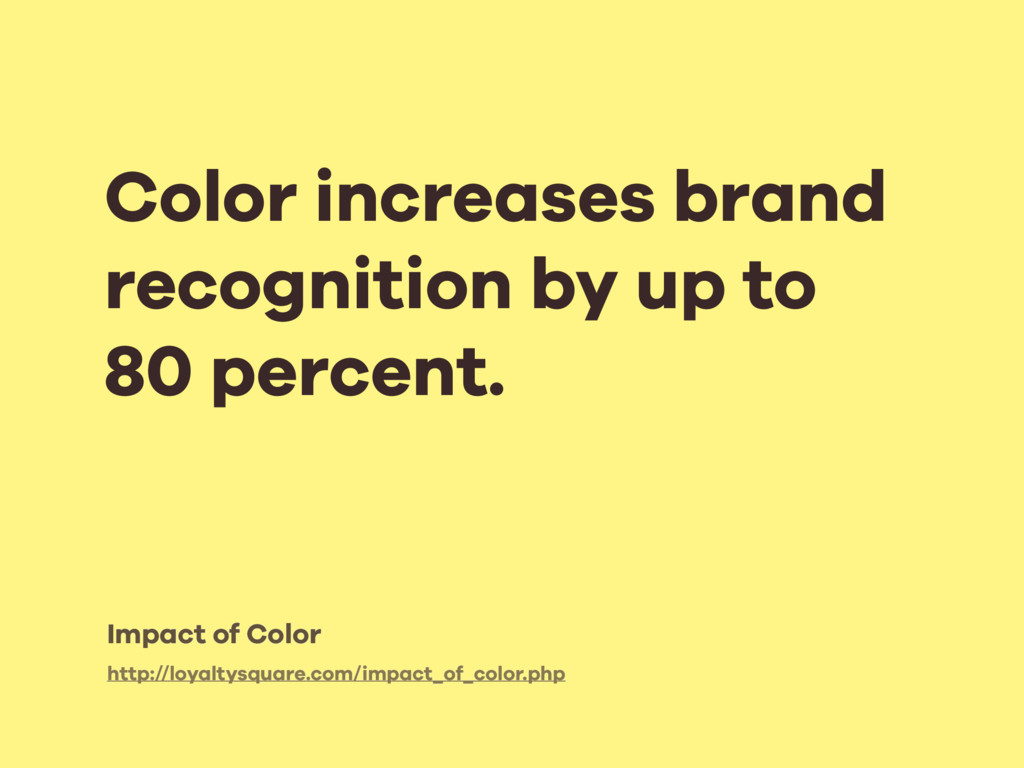 Color increases brand recognition by up to 80 p...