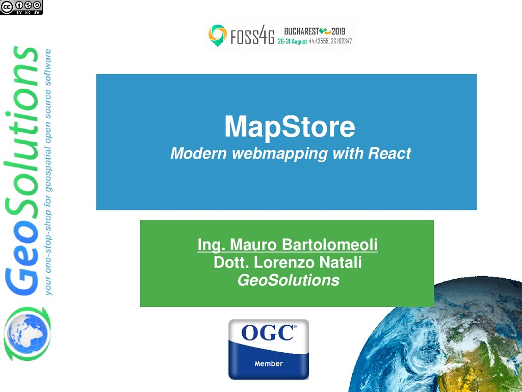 MapStore Modern webmapping with React Ing. Maur...