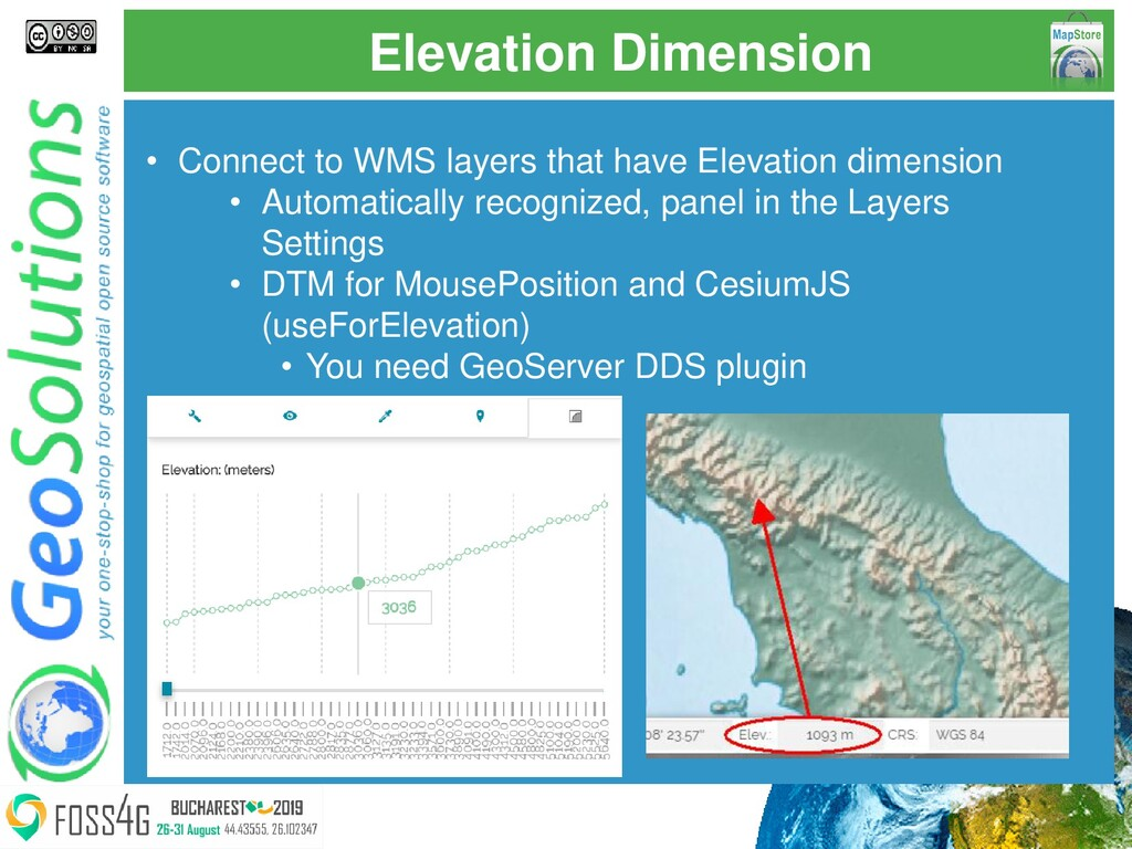 Elevation Dimension • Connect to WMS layers tha...