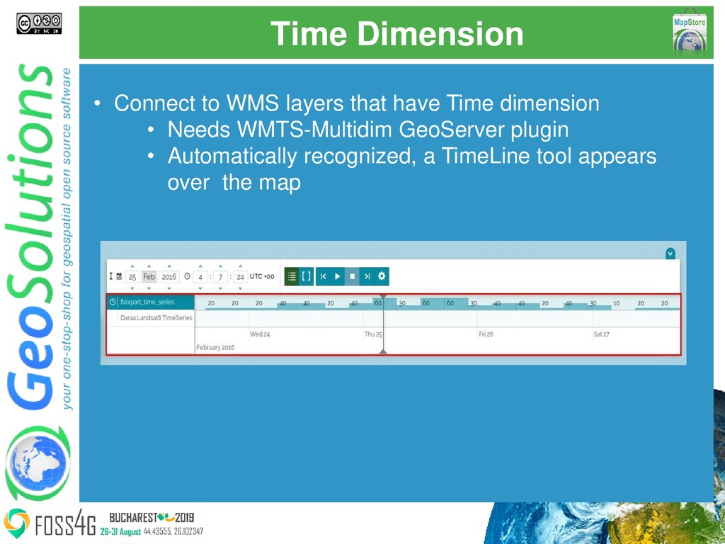 Time Dimension • Connect to WMS layers that hav...
