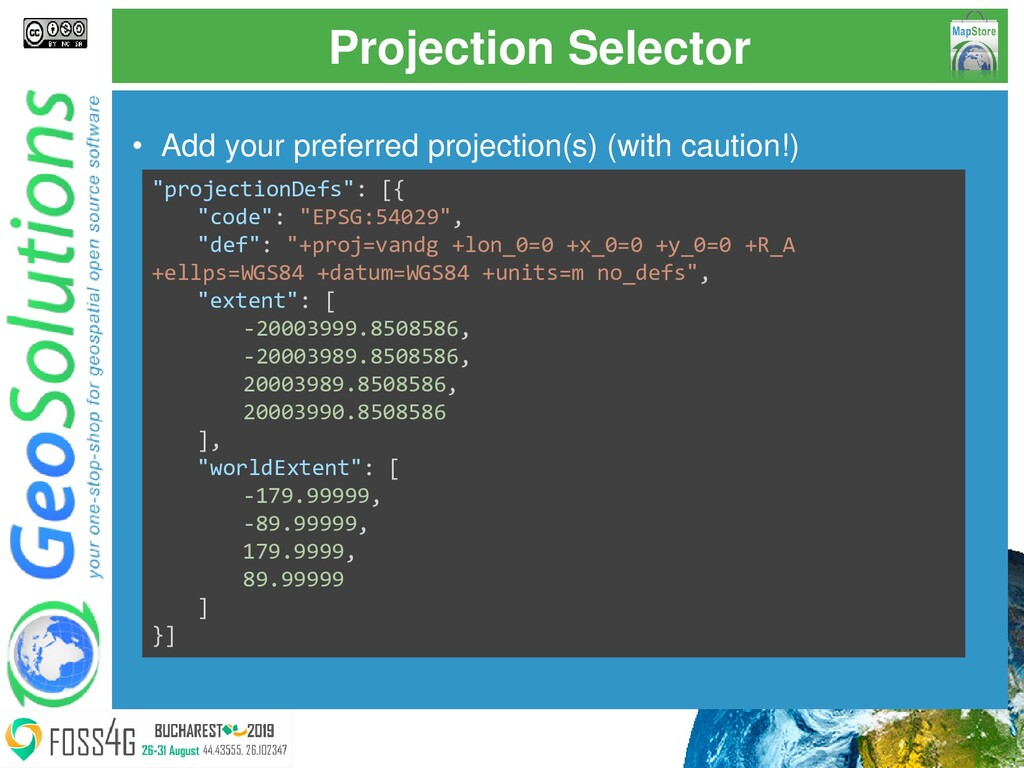 Projection Selector • Add your preferred projec...