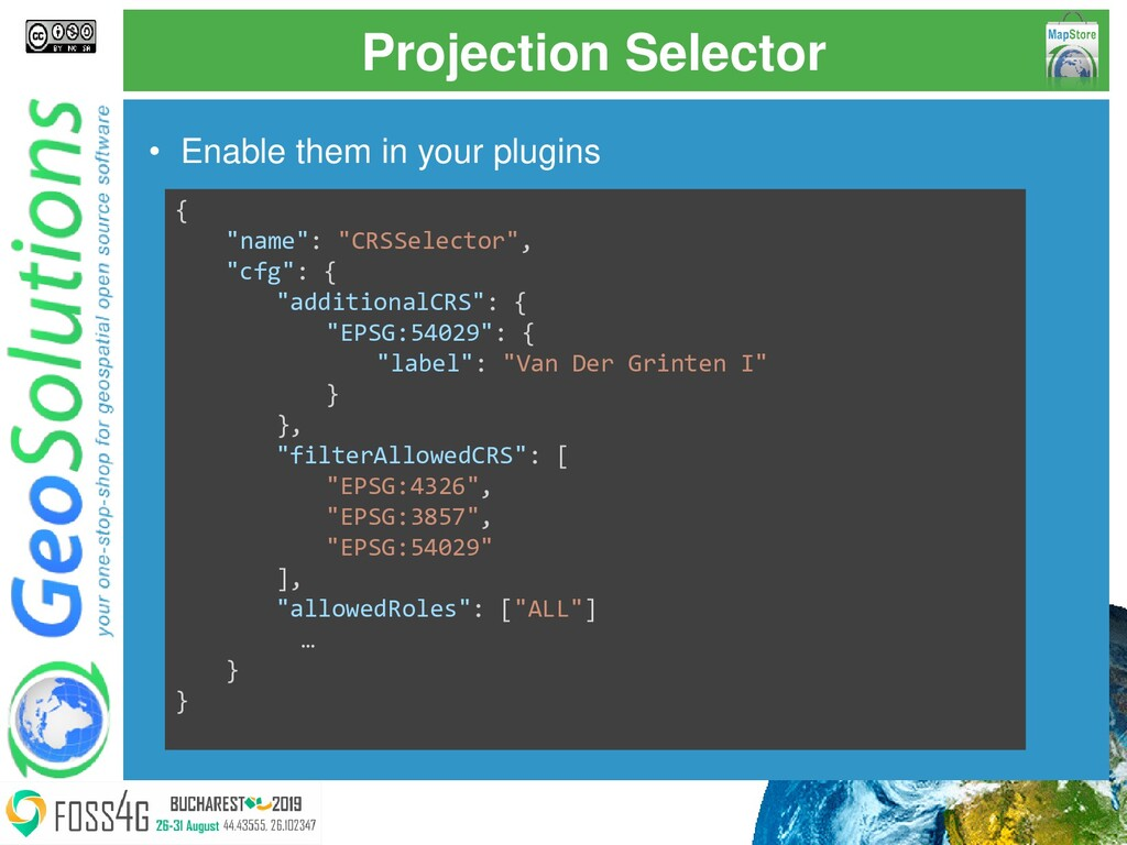 Projection Selector • Enable them in your plugi...