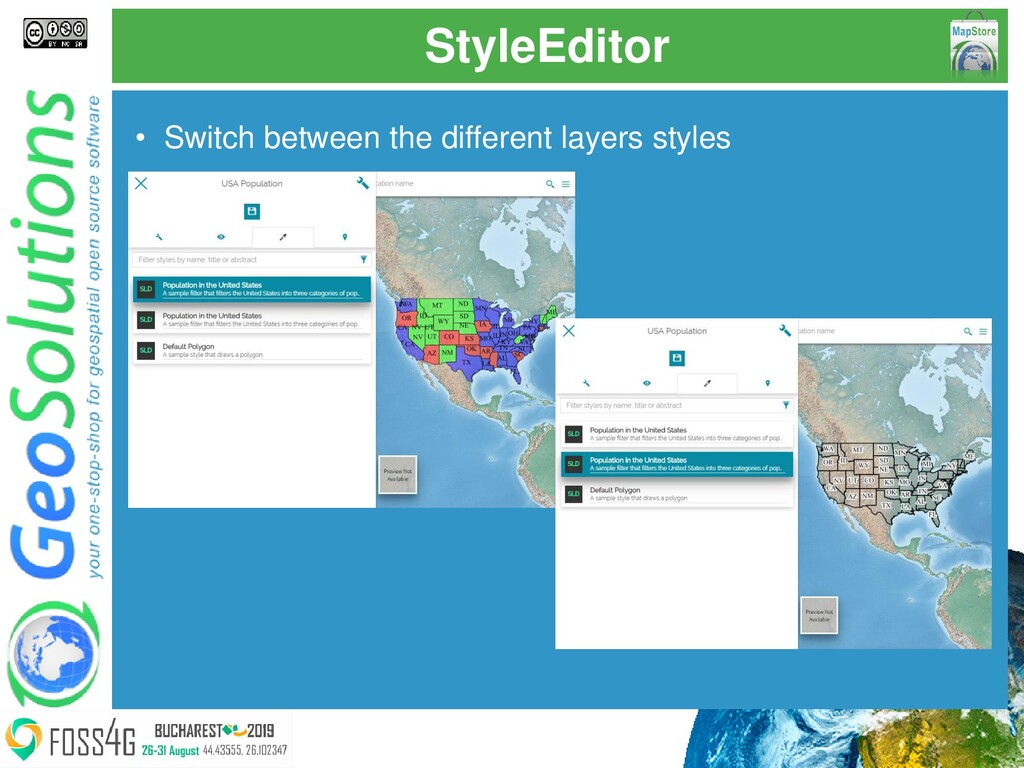 StyleEditor • Switch between the different laye...