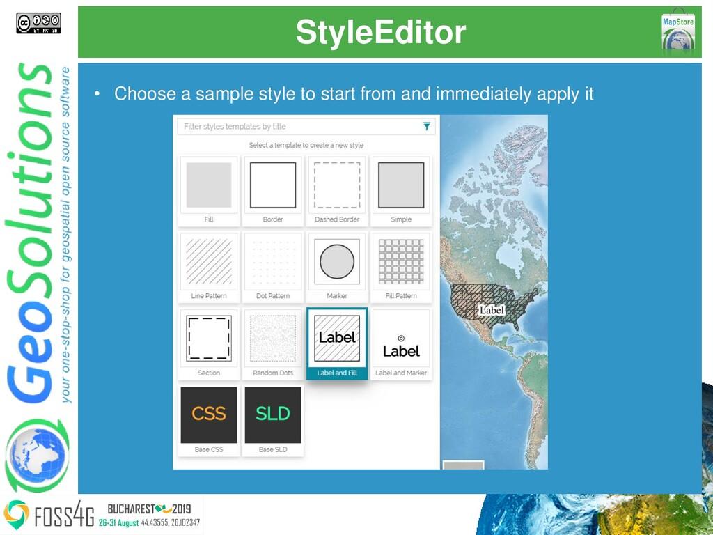 StyleEditor • Choose a sample style to start fr...