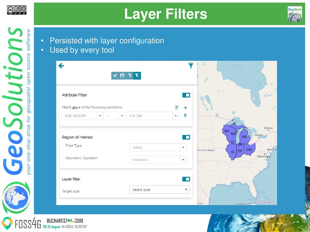 Layer Filters • Persisted with layer configurat...