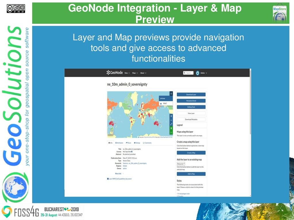 GeoNode Integration - Layer & Map Preview Layer...