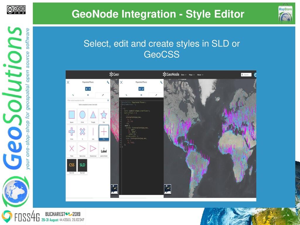 GeoNode Integration - Style Editor Select, edit...