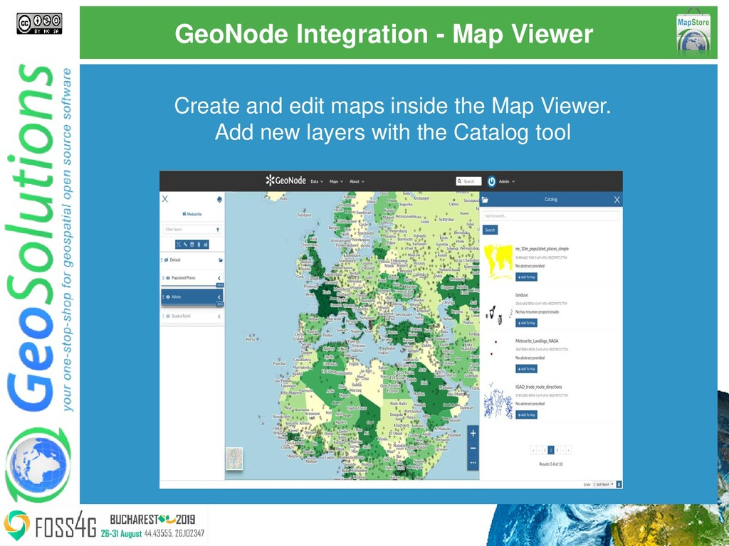 GeoNode Integration - Map Viewer Create and edi...