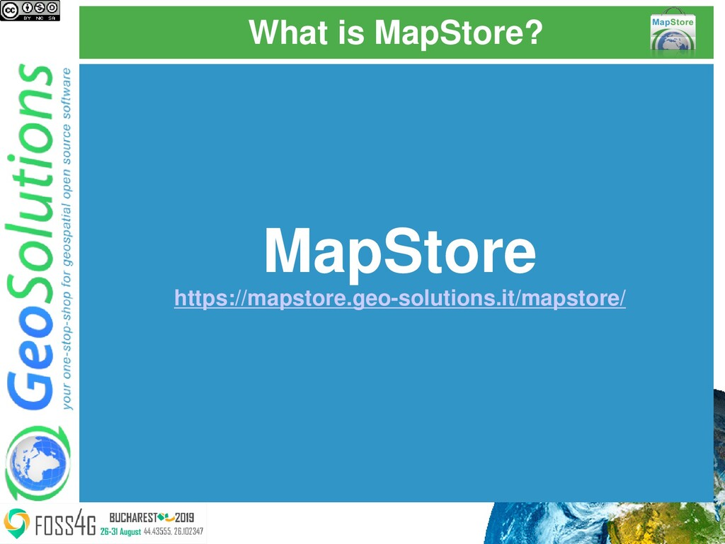 What is MapStore? MapStore https://mapstore.geo...