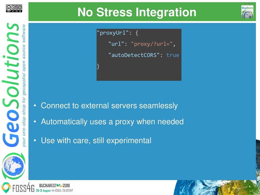 "No Stress Integration ""proxyUrl"": { ""url"": ""pro..."