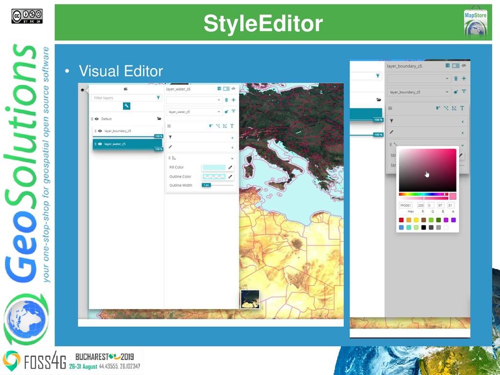 StyleEditor • Visual Editor