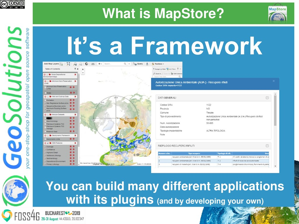 What is MapStore? It's a Framework You can buil...