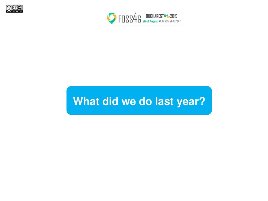 What did we do last year?
