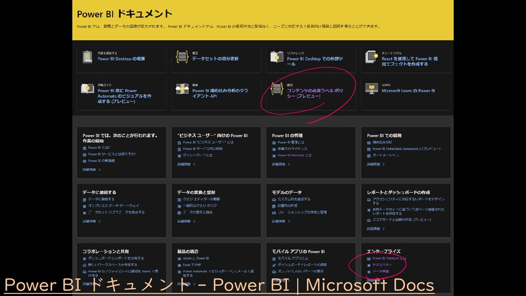 Power BI ドキュメント - Power BI   Microsoft Docs