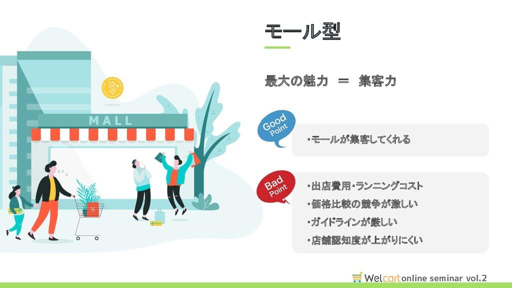 online seminar vol.2 最大の魅力 = 集客力 ・モールが集客してくれる ...