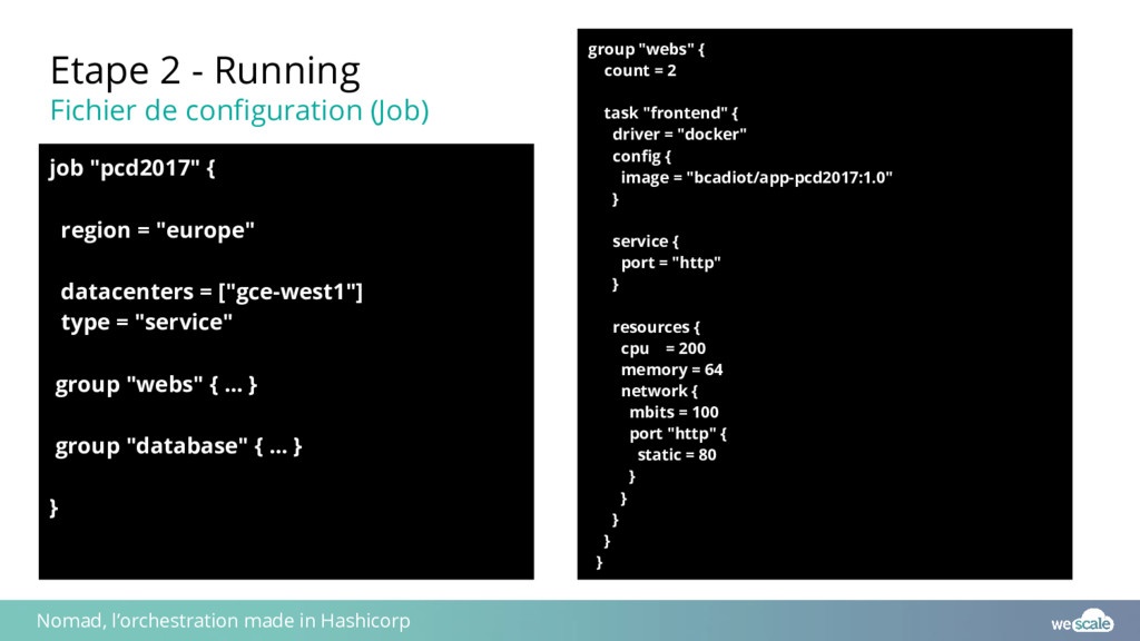 Etape 2 - Running Fichier de configuration (Job...