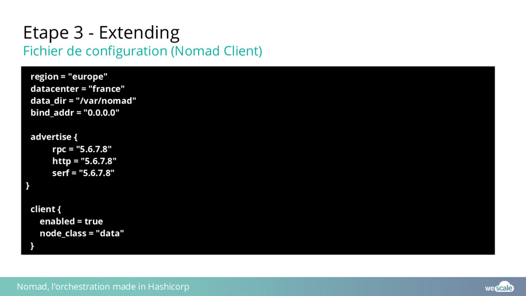 Etape 3 - Extending Fichier de configuration (N...