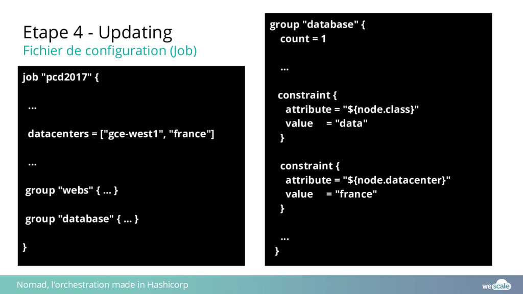 Etape 4 - Updating Fichier de configuration (Jo...