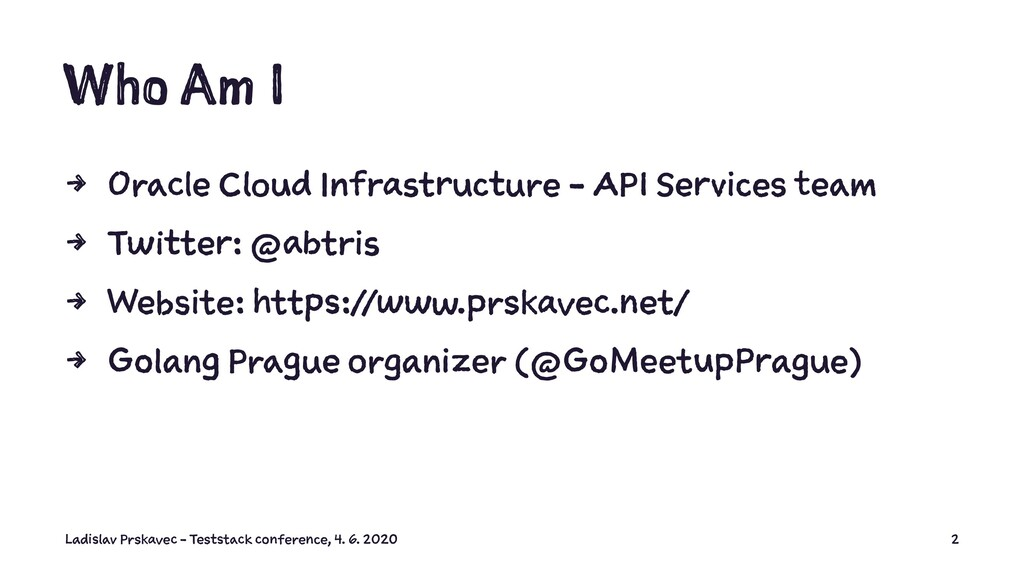 Who Am I 4 Oracle Cloud Infrastructure - API Se...