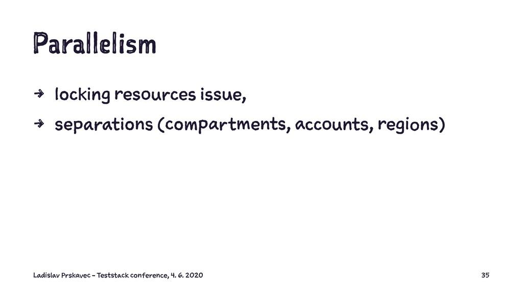 Parallelism 4 locking resources issue, 4 separa...