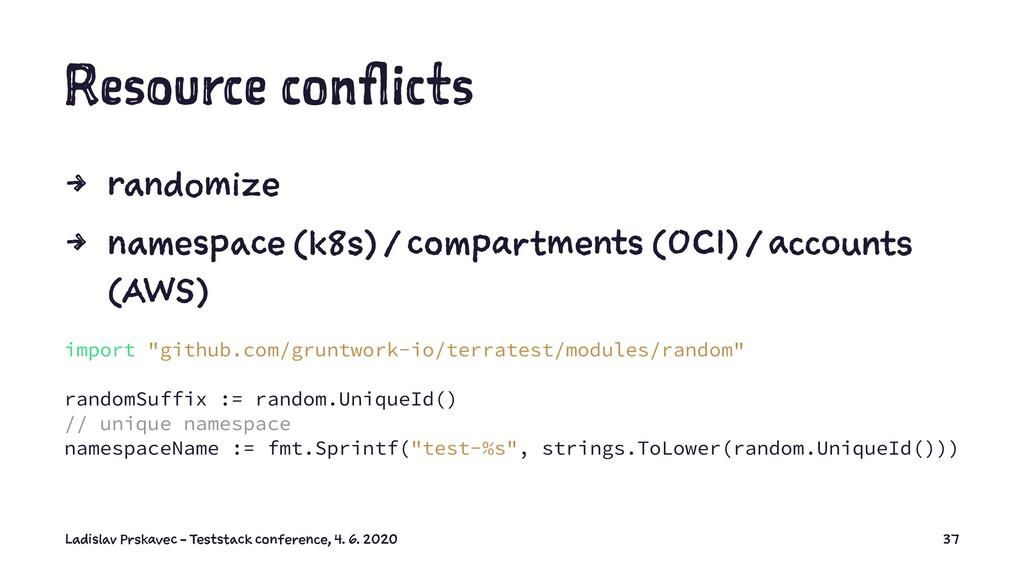 Resource conflicts 4 randomize 4 namespace (k8s...