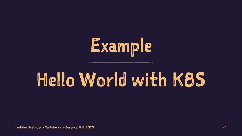 Example Hello World with K8S Ladislav Prskavec ...