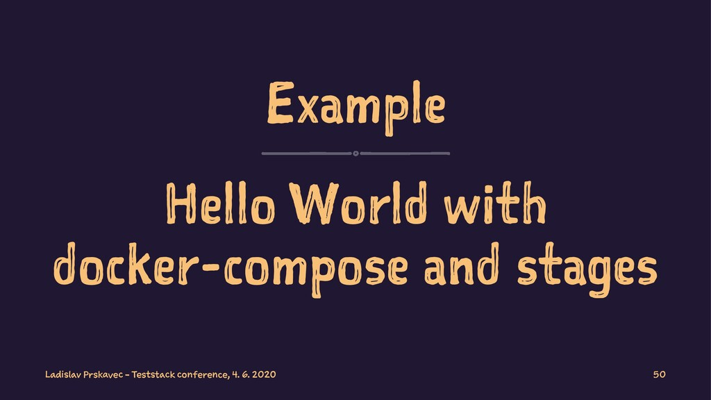 Example Hello World with docker-compose and sta...