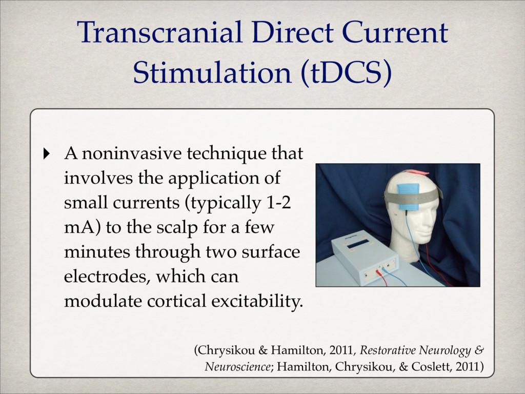 ‣ A noninvasive technique that involves the app...