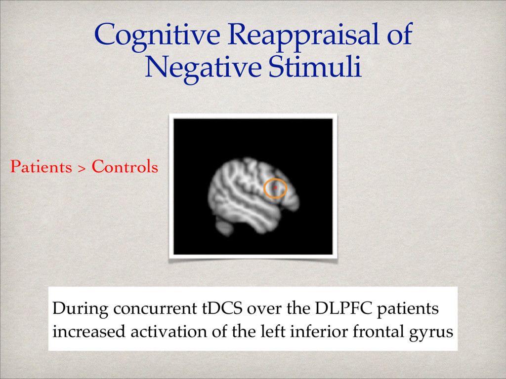 Cognitive Reappraisal of Negative Stimuli Durin...