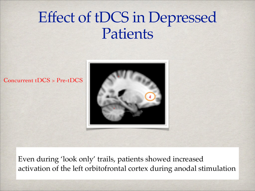 Effect of tDCS in Depressed Patients Even durin...