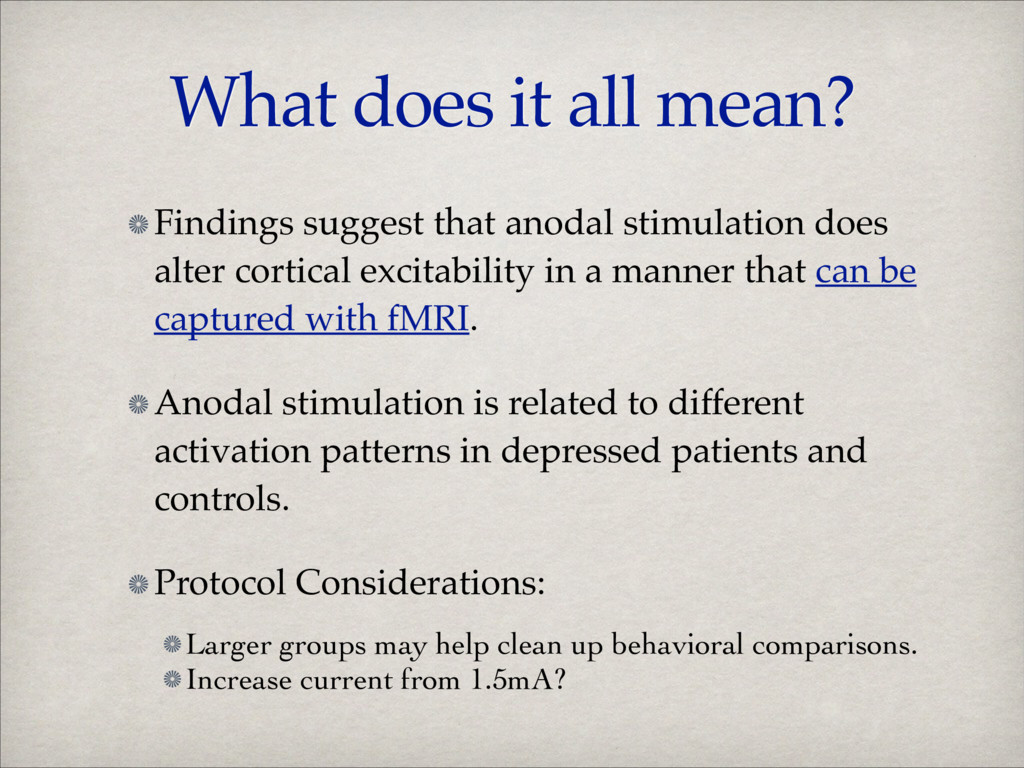 What does it all mean? Findings suggest that an...