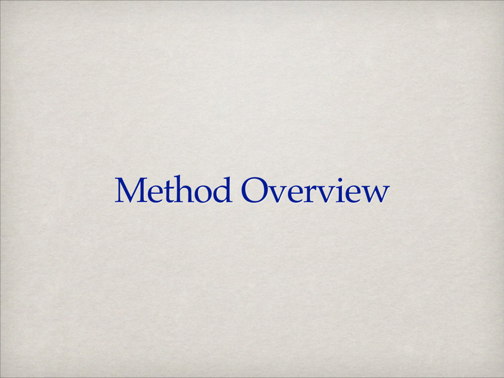 Method Overview