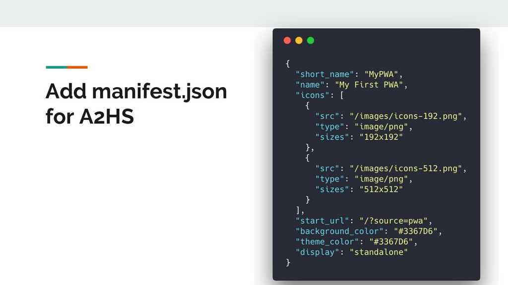 Add manifest.json for A2HS