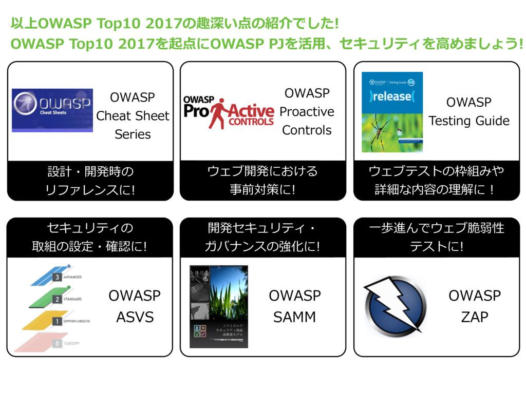⼀歩進んでウェブ脆弱性 テストに! OWASP ASVS OWASP ZAP 設計・開発時の ...