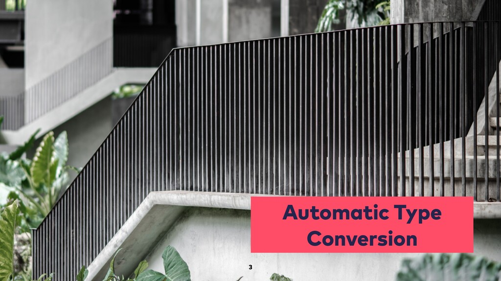 Automatic Type Conversion 3