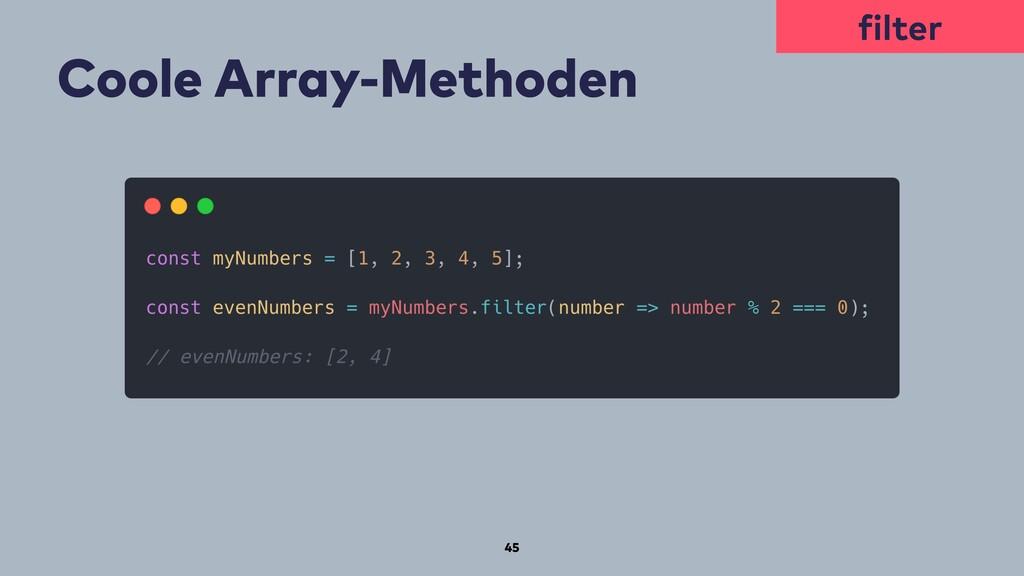 45 Coole Array-Methoden filter