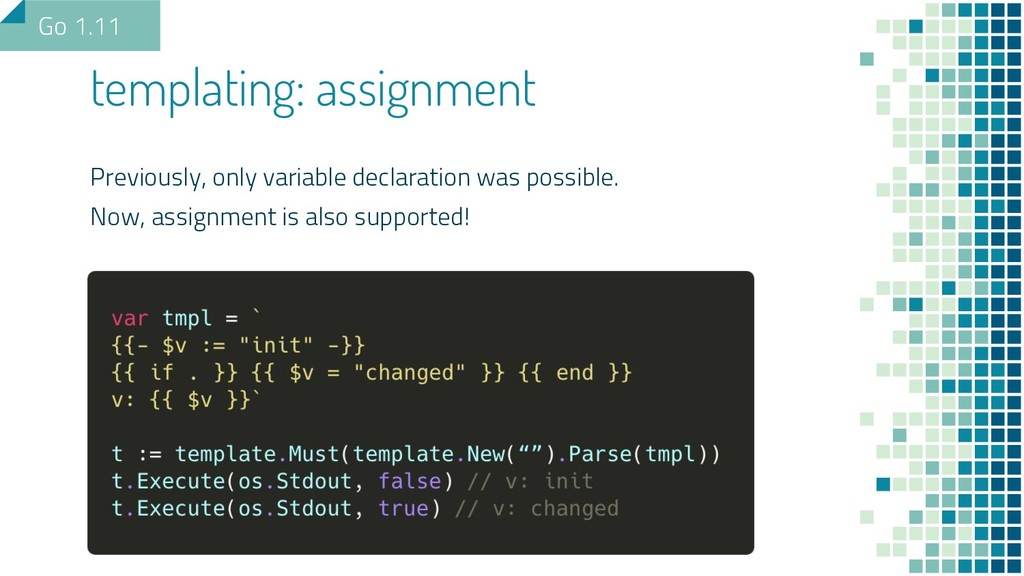 templating: assignment Previously, only variabl...