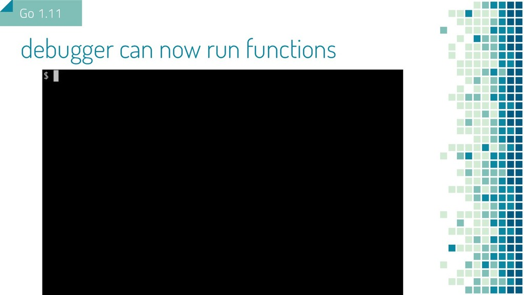 debugger can now run functions Go 1.11