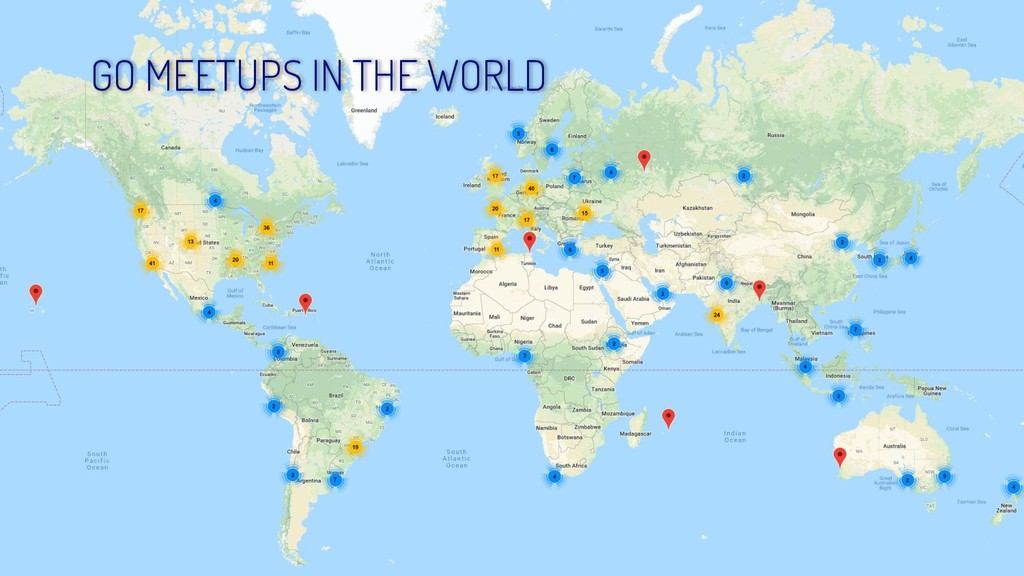 GO MEETUPS IN THE WORLD