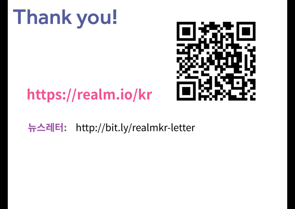 Thank you! IUUQTSFBMNJPLS 쁂큲엖IUUQC...