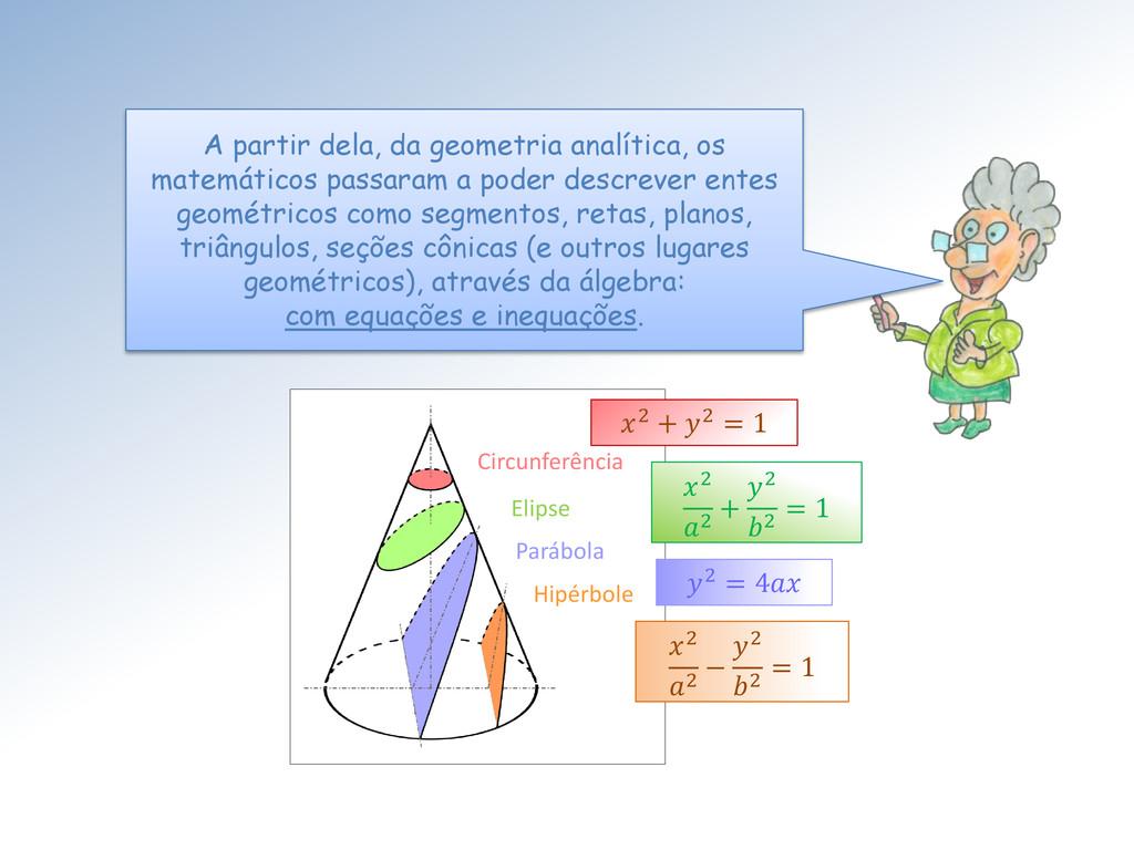 A partir dela, da geometria analítica, os matem...
