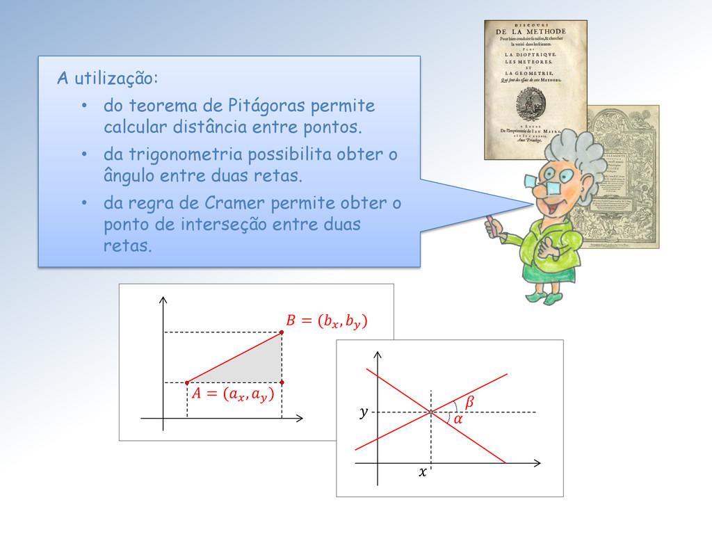 A utilização: • do teorema de Pitágoras permite...