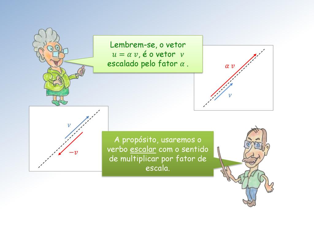 − v   v Lembrem-se, o vetor  =  , é o vetor v e...