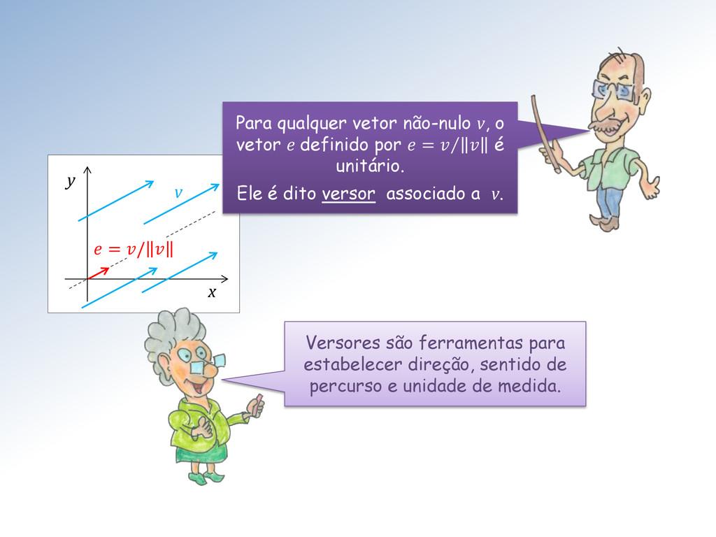 x y  = /  v Para qualquer vetor não-nulo v, o v...