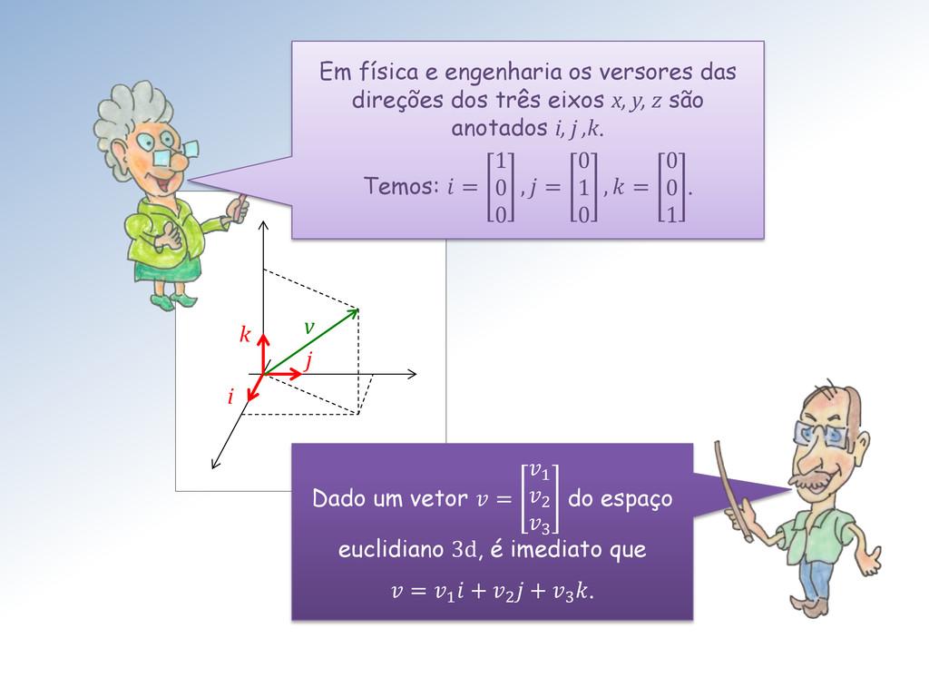 v i j k Em física e engenharia os versores das ...