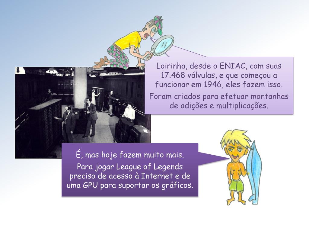 Loirinha, desde o ENIAC, com suas 17.468 válvul...