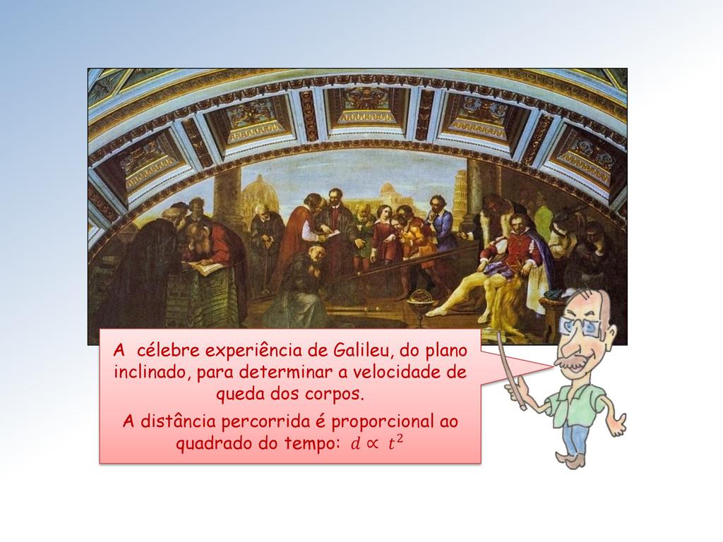 A célebre experiência de Galileu, do plano incl...
