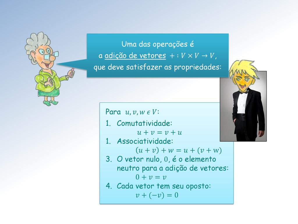 Para , ,   : 1. Comutatividade:  +  =  +  1. As...